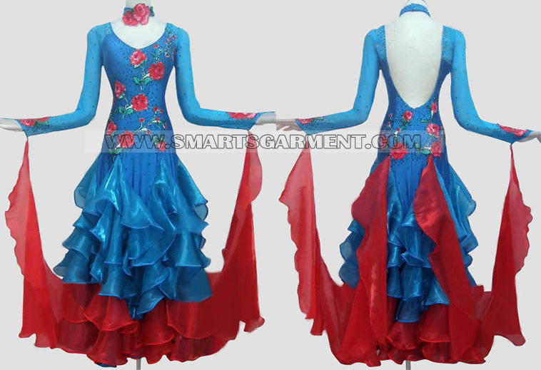 sprzedani sukienkę do tańca towarzyskiego,Suknia do standardu tańca towarzyskiego